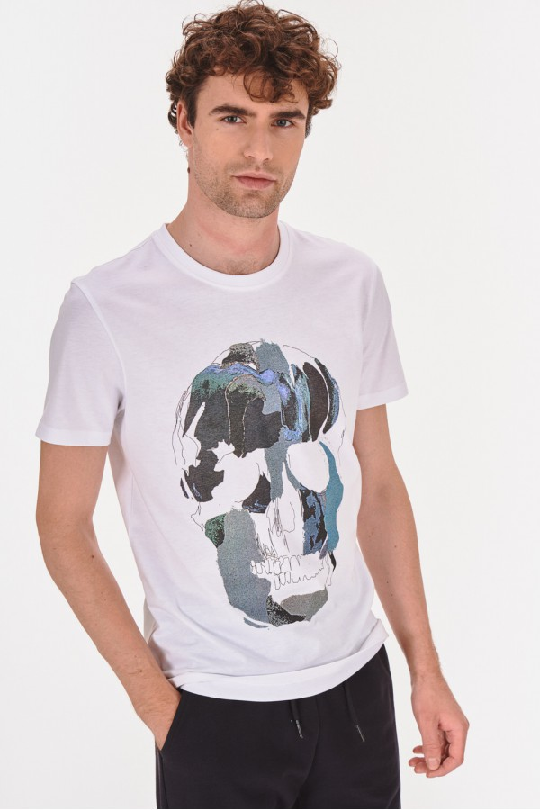 Koszulka z grafiką twarzy