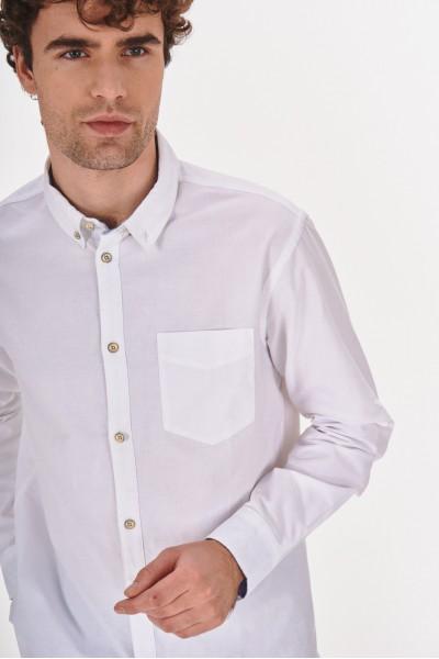 Gładka koszula regular