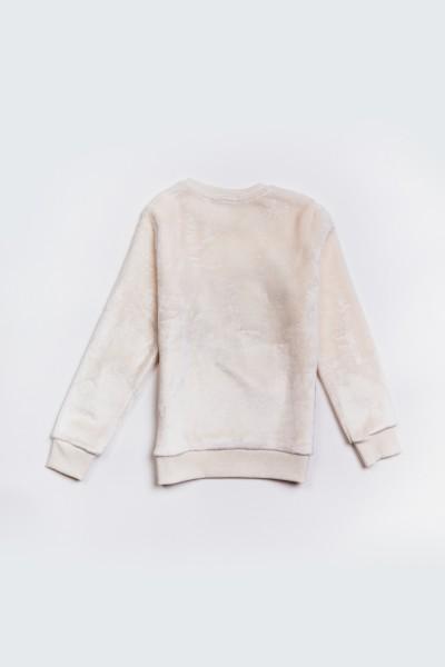Bluza z pluszowego materiału