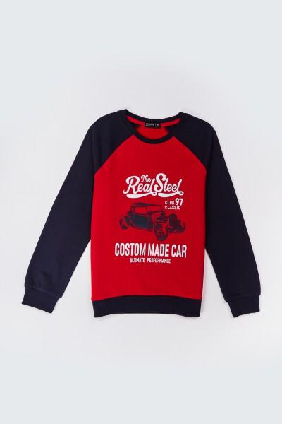 Bluza z nadrukiem zabytkowego samochodu