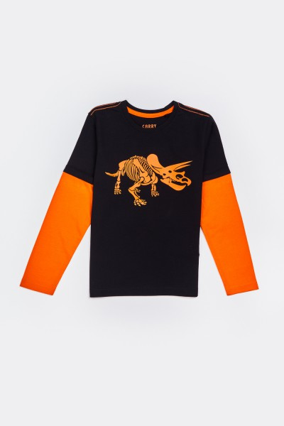 Koszulka ze szkieletem dinozaura