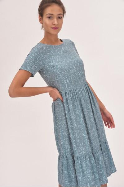 Sukienka midi z falbanką