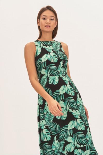 Sukienka midi w liście