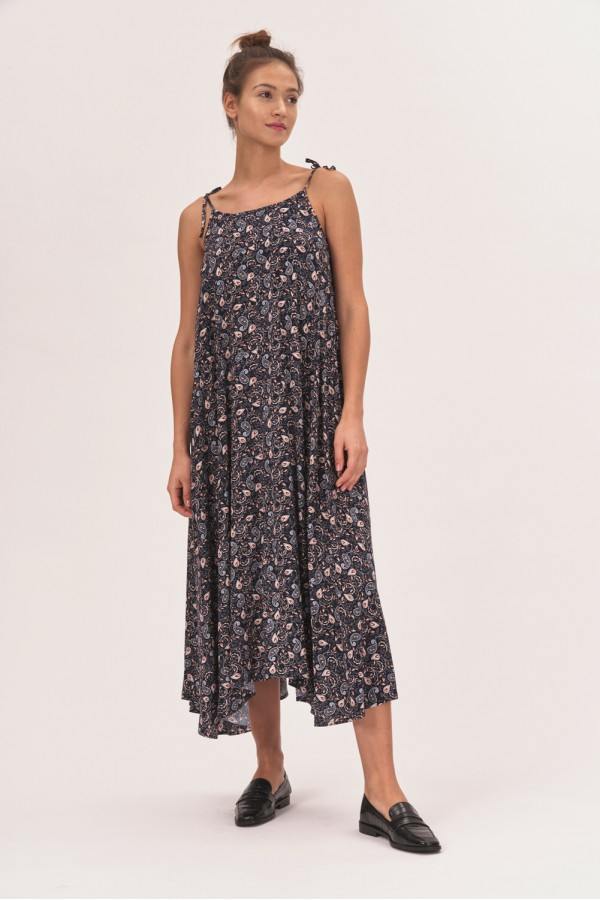 Sukienka midi we wzór paisley