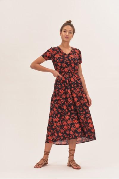 Wiskozowa sukienka midi