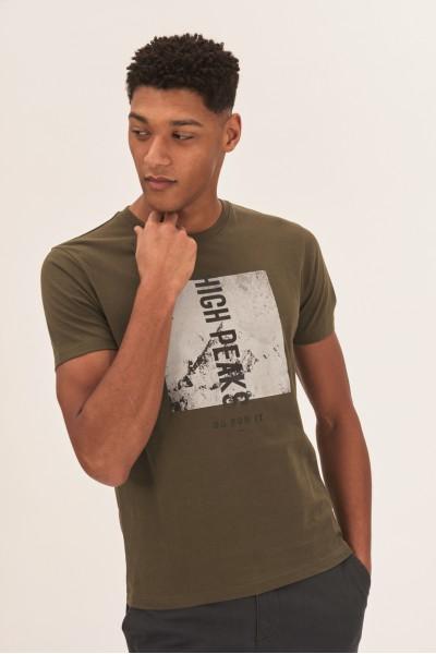 T-shirt z czarno-białym nadrukiem