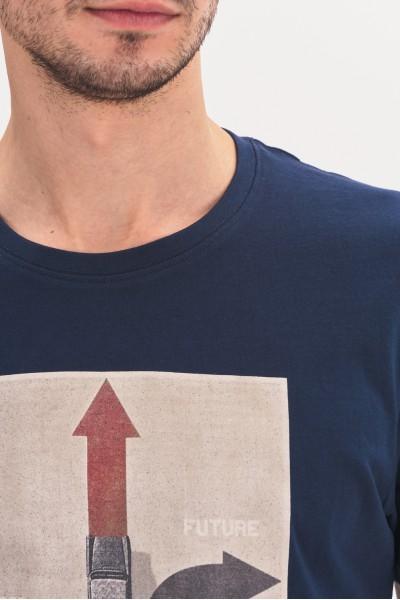 Koszulka z prostokątnym nadrukiem
