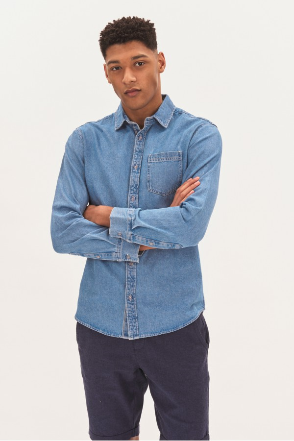 Jeansowa koszula regular