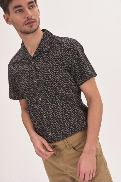 Wzorzysta koszula regular