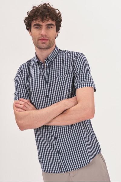 Bawełniana koszula regular w łódki