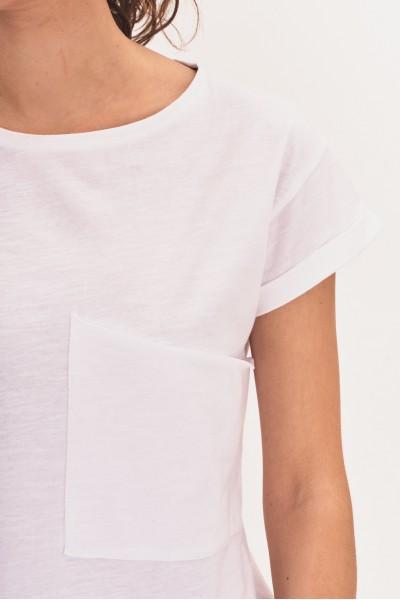Koszulka z obszerną kieszenią