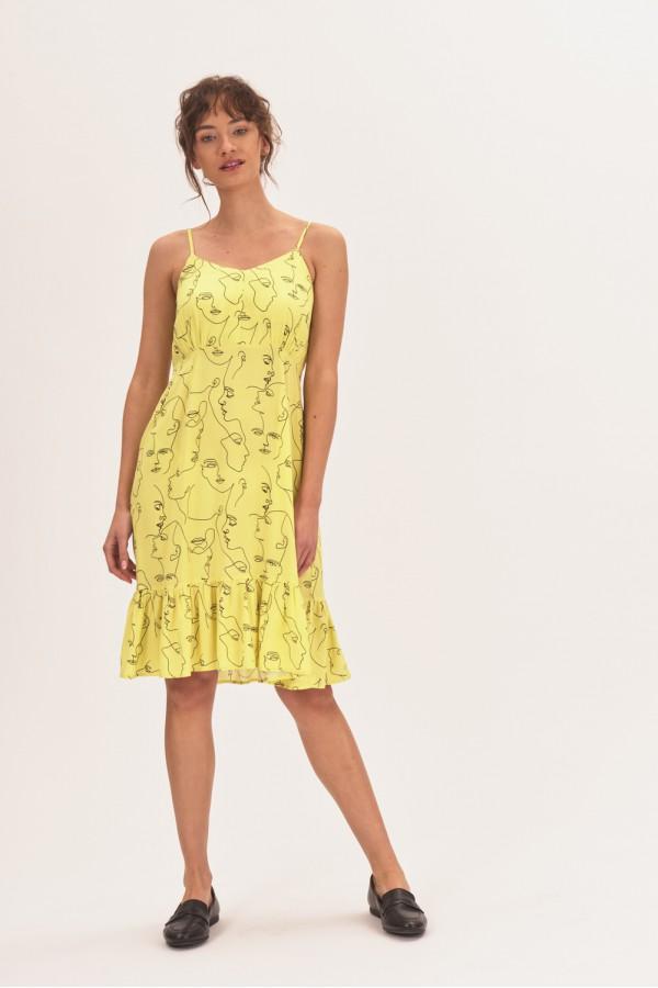 Letnia sukienka na ramiączkach