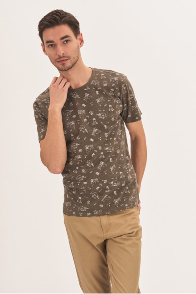 T-shirt w leniwce