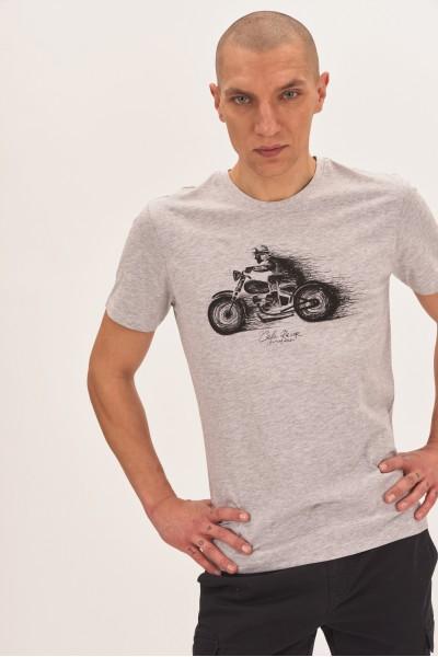 T-shirt z motocyklem
