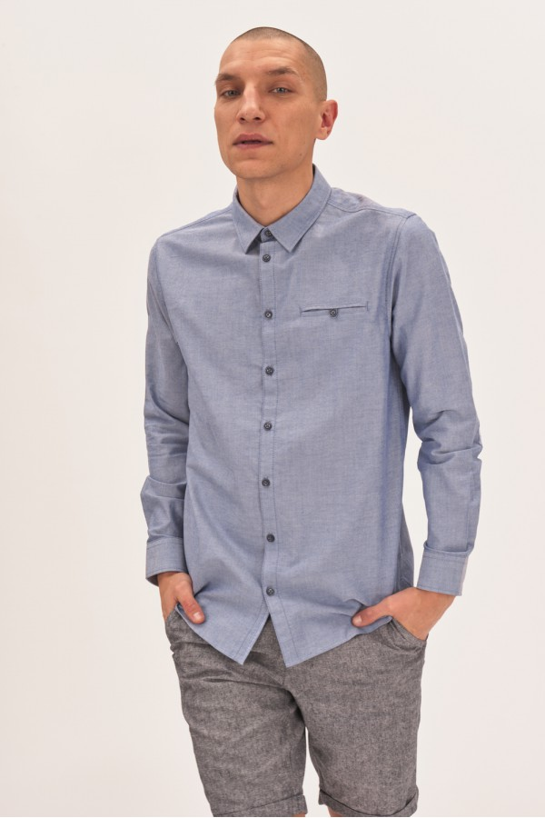 Koszula regular z łatami na łokciach