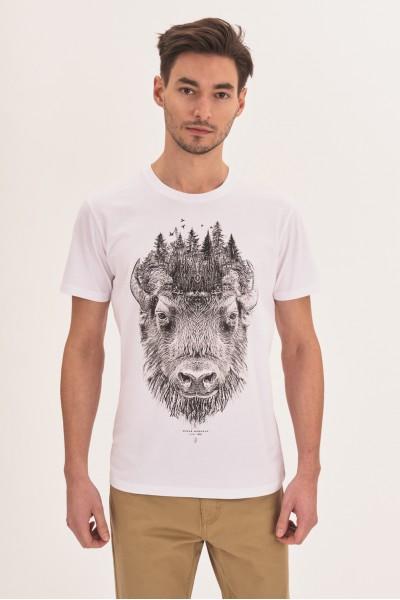 Koszulka ze zwierzęcym nadrukiem