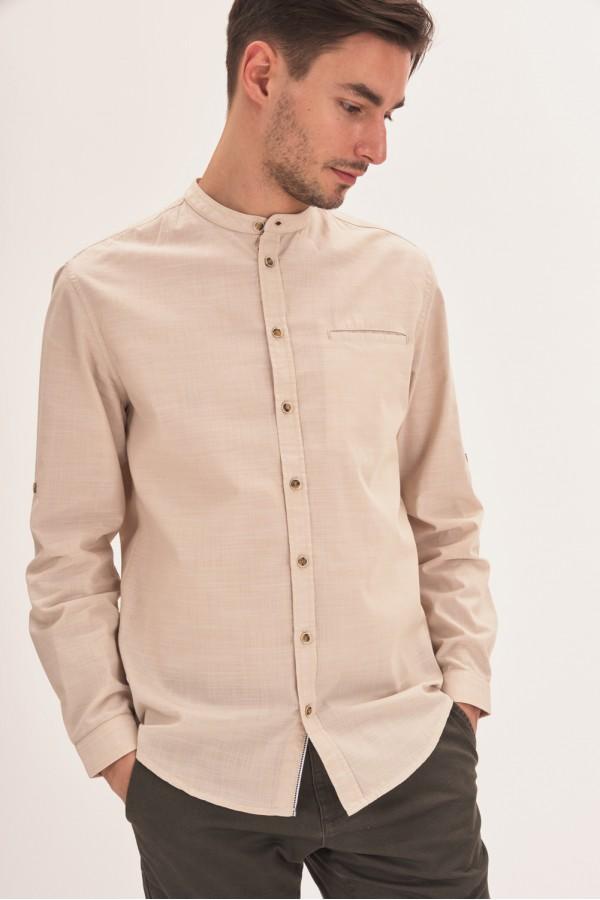 Koszula regular z niską stójką
