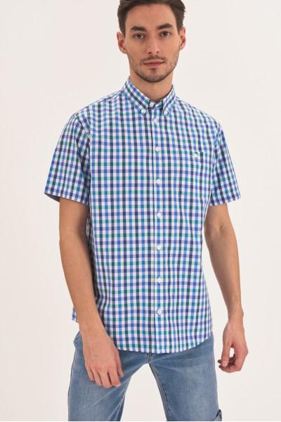 Kraciasta koszula z krótkim rękawem