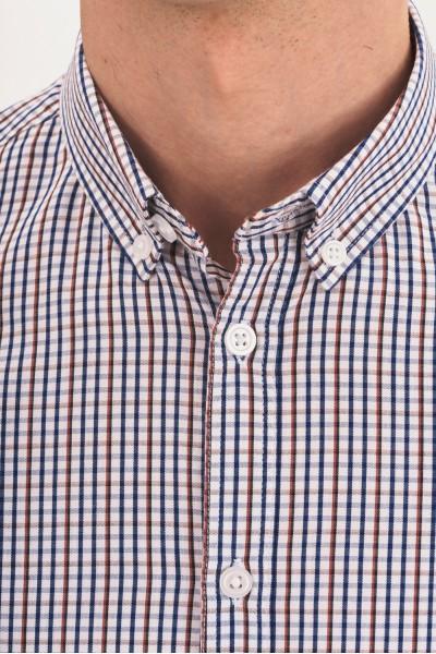 Kraciasta koszula regular z krótkim rękawem