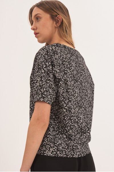 Bluzka w drobne wzory