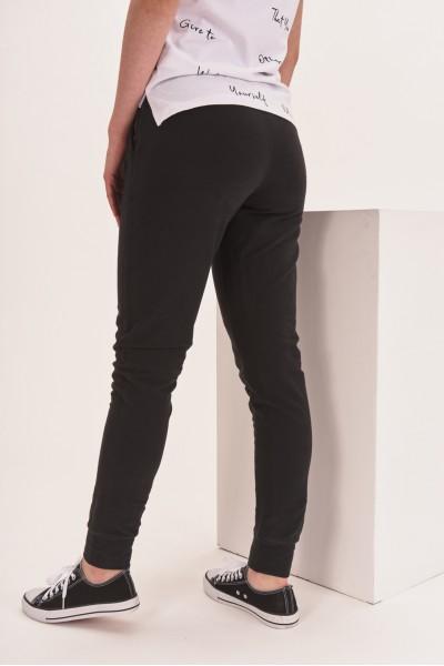 Spodnie dresowe z gładkiego materiału