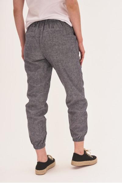 Spodnie z dodatkiem lnu