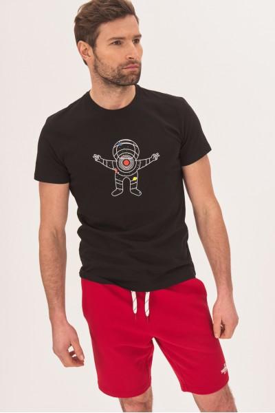 Koszulka z komiksowym nadrukiem astronauty