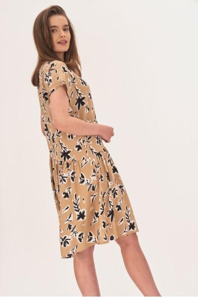 Rozkloszowana sukienka z wiskozy