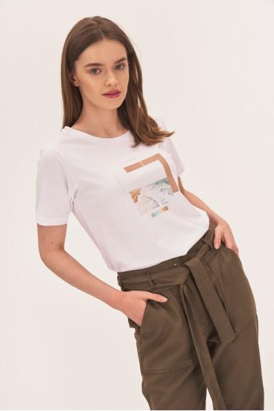 Koszulka z pastelowym nadrukiem