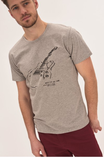 T-shirt z nadrukiem gitary