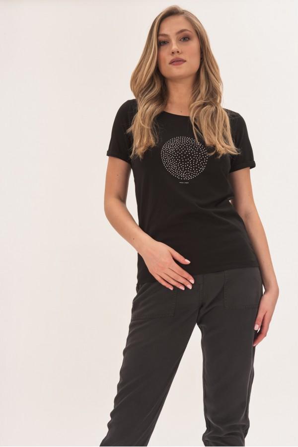 Bawełniany t-shirt z kryształkami