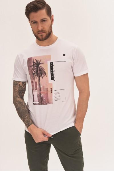 T-shirt z nadrukiem miasta