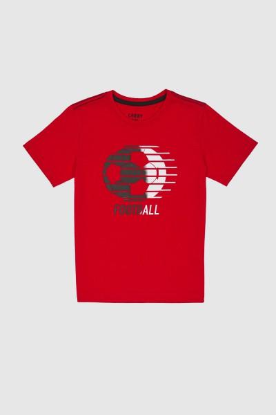 Koszulka z piłkarskim nadrukiem