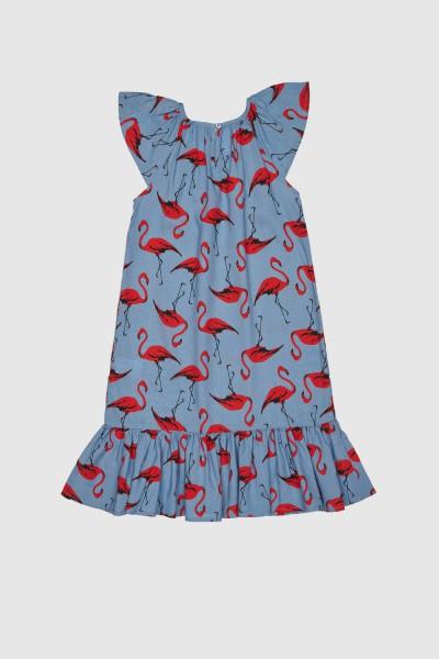 Sukienka we flamingi