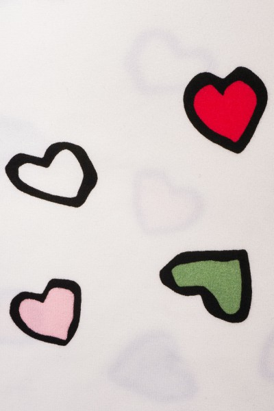 Dwuczęściowa piżama w serca