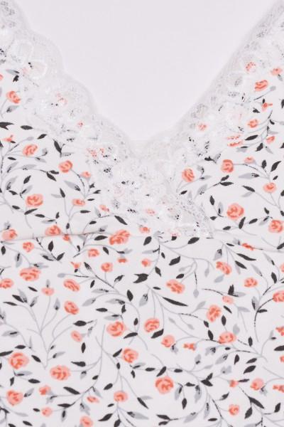 Koszula nocna w roślinne wzory