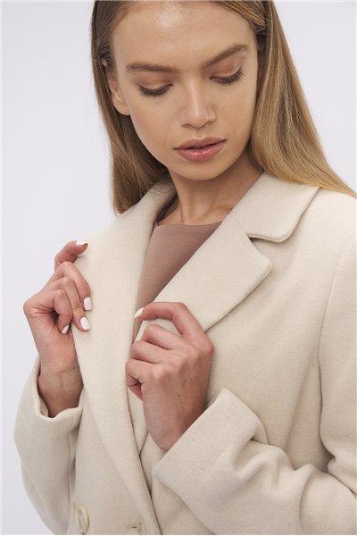 Płaszcz z dodatkiem wełny