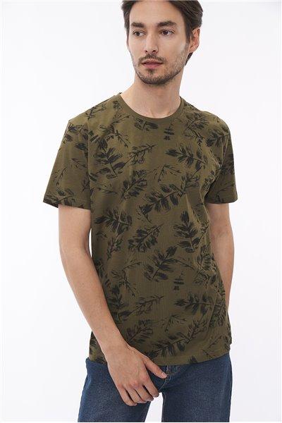 T-shirt w liście