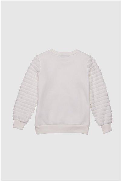 Bluza z pluszowymi rękawami