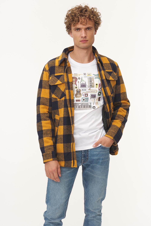 Koszulowa kurtka w kratę